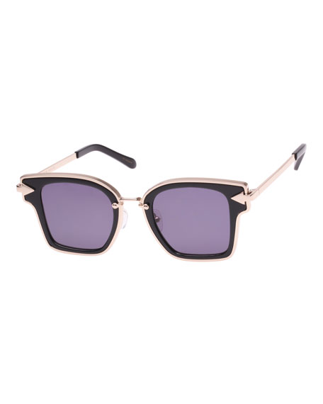 Karen Walker Rebellion Two-Tone Square Sunglasses
