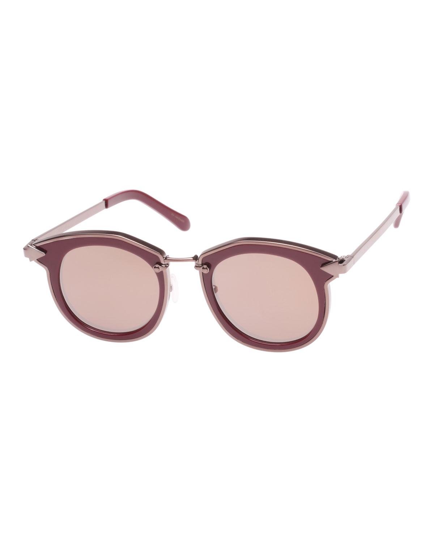 8e59d7aef5b Karen Walker Bounty Two-Tone Round Sunglasses