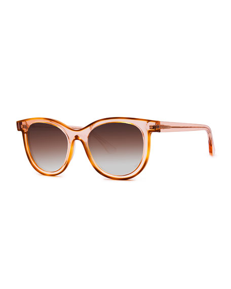 Vacancy Transparent Gradient Sunglasses, Pink Pattern