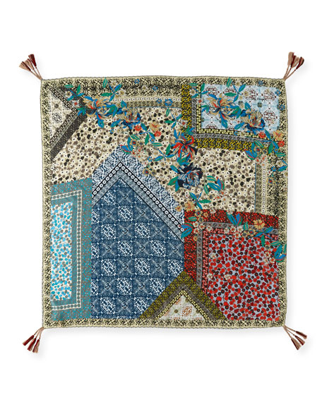 Voloom Floral-Print Silk Scarf