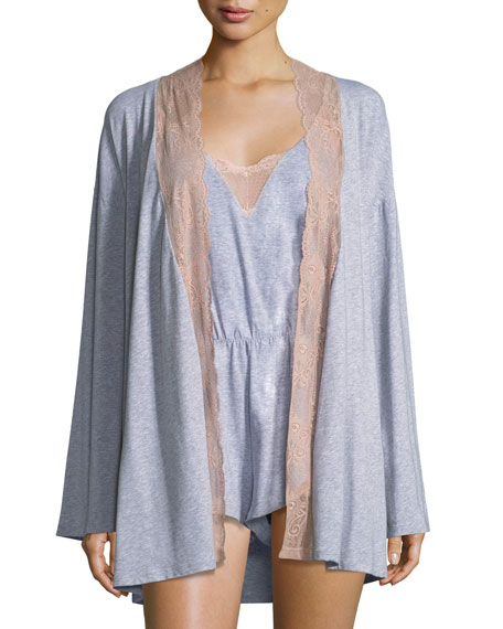 Cosabella Palazzo Lace-Trim Jersey Kimono and Matching Items