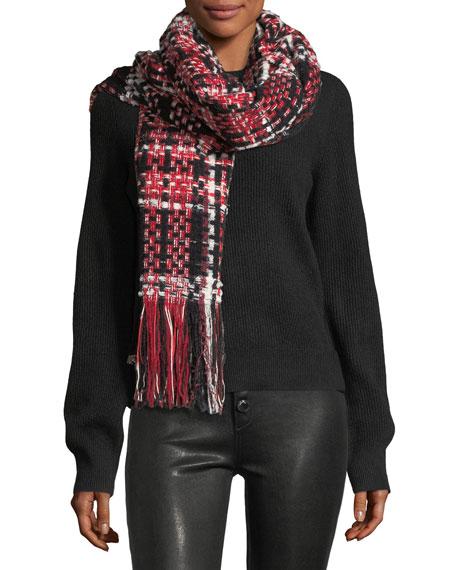 Linton Tweed Fringed Wool-Blend Scarf