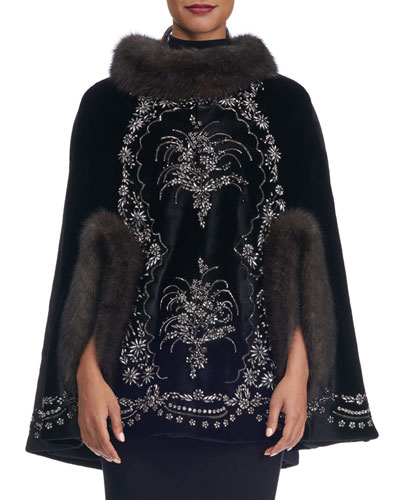 SHEARED MINK CAPE RUSSIAN SA
