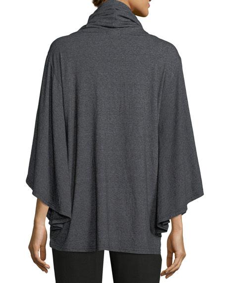 Cowl-Neck Knit Poncho