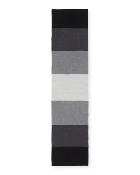 Merino Colorblock Striped Scarf