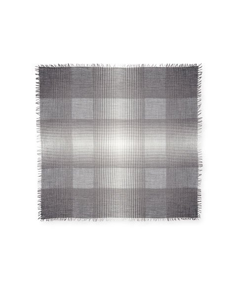 Wool-Blend Sparkle Check Square Scarf