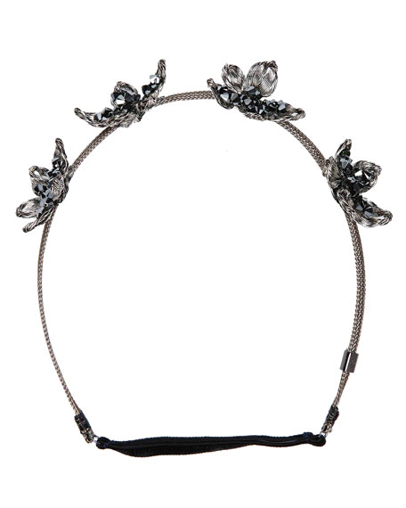Wild Flower Mesh Crown Headband