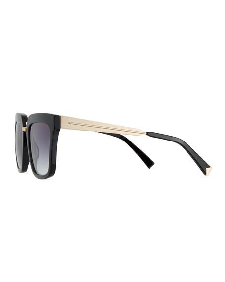 Karissa Square Acetate & Metal Sunglasses