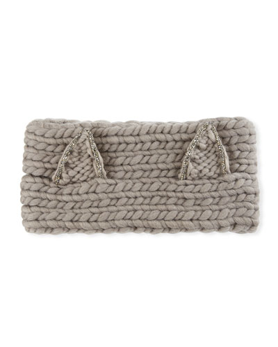Kat Wool Headband with Animal Ears