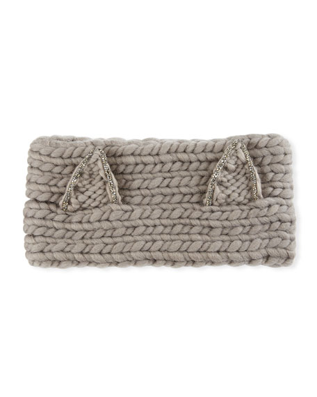 Eugenia Kim Kat Wool Headband with Animal Ears