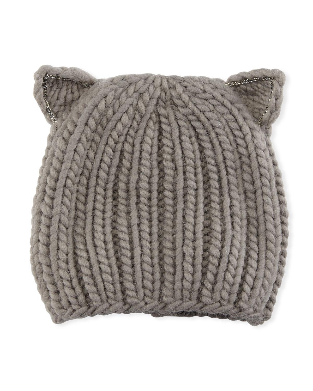 e11217d91fc Eugenia Kim Felix Wool Cat-Ears Beanie Hat