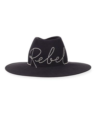 Harlowe Embellished Rebel Wool Hat
