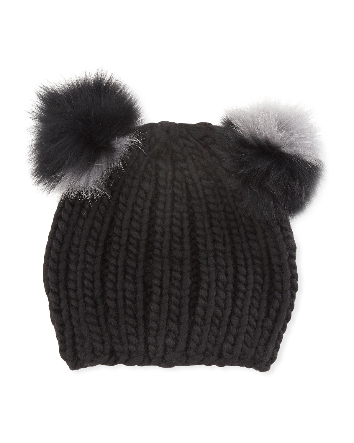 Eugenia Kim Mimi Double Fur Pompoms Beanie Hat a19f2ebc2f5