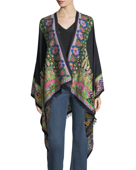 Etro Floral-Print V-Neck Sweater and Matching Items
