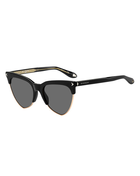 Givenchy Semi-Rimless Triangle Sunglasses