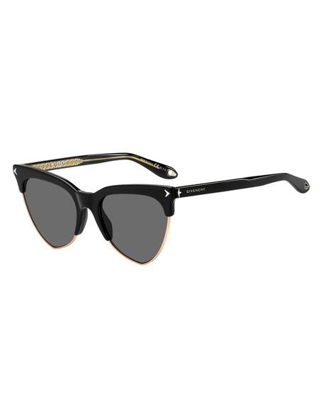 Givenchy Semi-Rimless Triangle Sunglasses