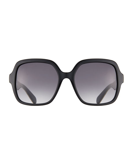 katelee square leopard-arms sunglasses
