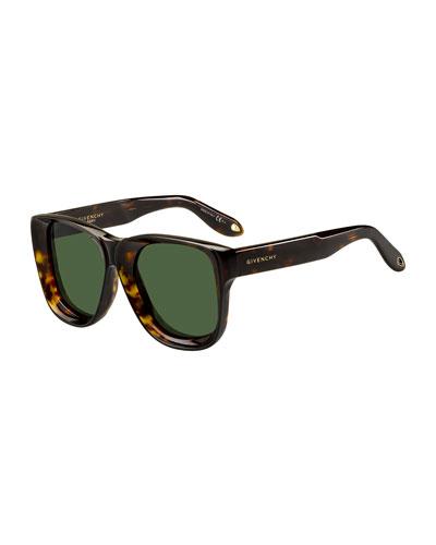 Round Chunky Acetate Sunglasses