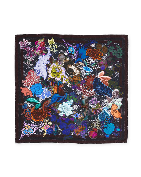 The Découpage Silk Twill Square Scarf