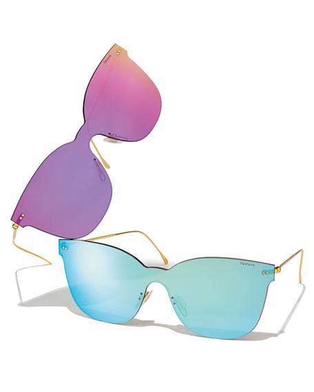 Piazza Mask Mirrored Sunglasses