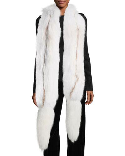 Fox Fur Boa w/ Detachable Tails