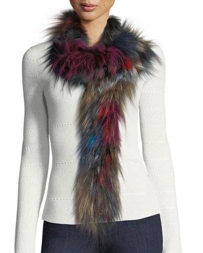 Fox Fur Convertible Infinity Scarf