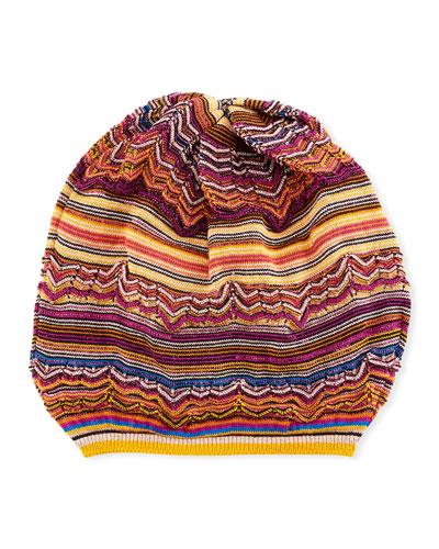 Wool-Blend Knit Beret