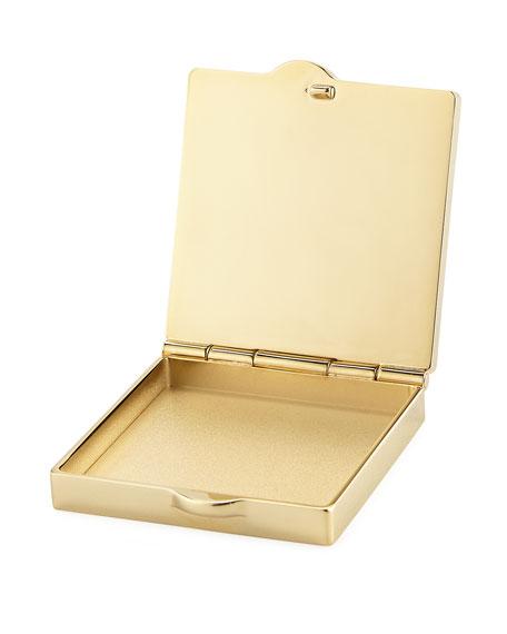 Leather Pill Box Key Chain