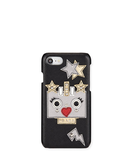 Robot Saffiano Leather iPhone® 7 Case