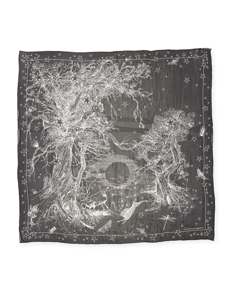 Witch Star Forest Silk Scarf