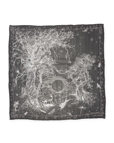 Witch Star Forest Silk Scarf