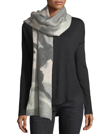 Sinclair Camo Wool Scarf
