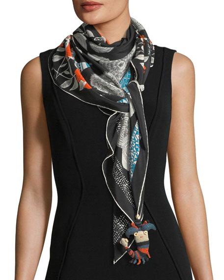 Shahmaran Silk Printed Scarf
