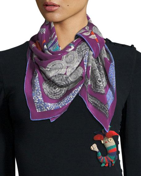 Foulard Shahmaran Silk Scarf
