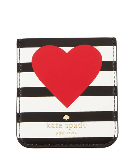 heart stripe sticker pocket for phone