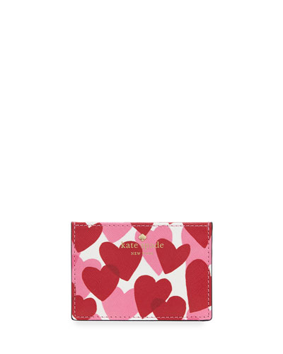 yours truly hearts card holder