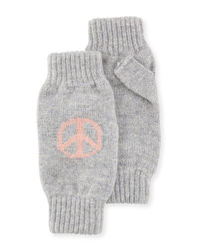 Peace & Love Cashmere Wrist Warmers