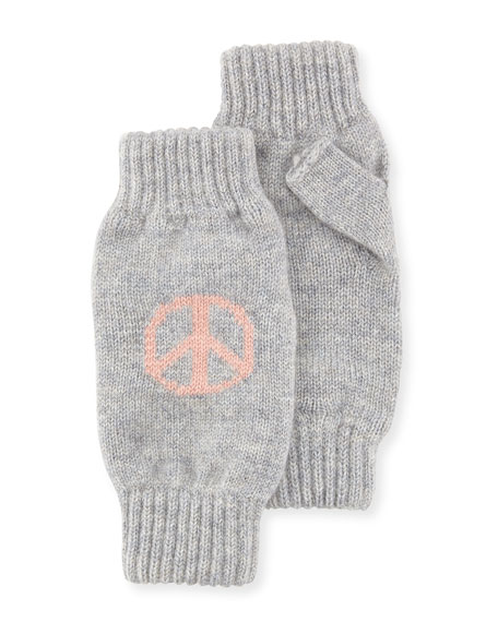 Peace & Love Cashmere Wrist Warmers