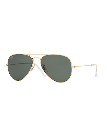 Ray-Ban Monochromatic Metal Aviator Sunglasses, Yellow Pattern