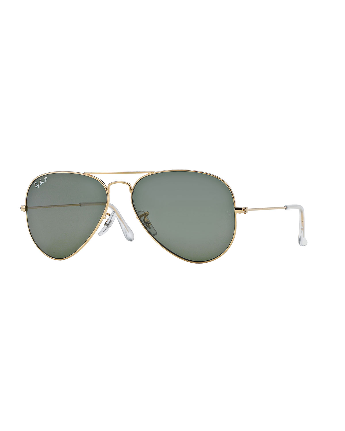 e1ed483d25 Ray-Ban Monochromatic Polarized Metal Aviator Sunglasses