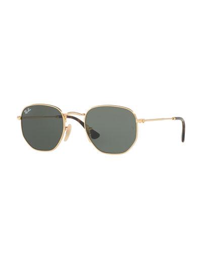 Square Metal Keyhole Sunglasses