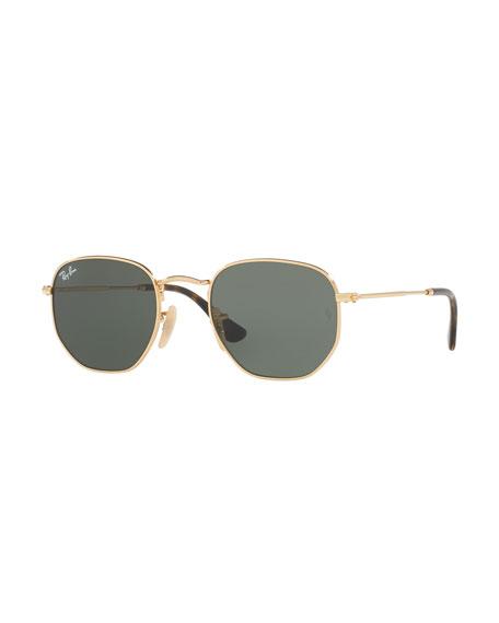 Ray-Ban Square Metal Keyhole Sunglasses | Neiman Marcus