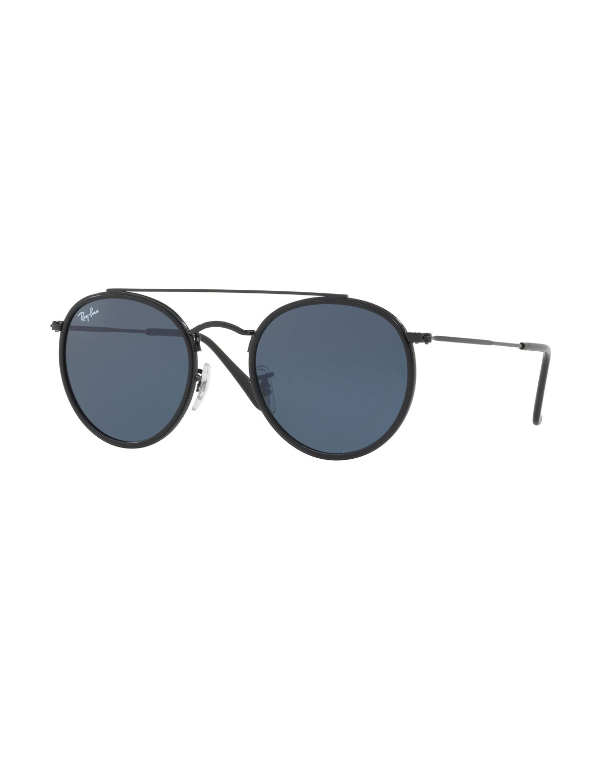 e438750d7e Ray-Ban Monochromatic Round Metal Sunglasses