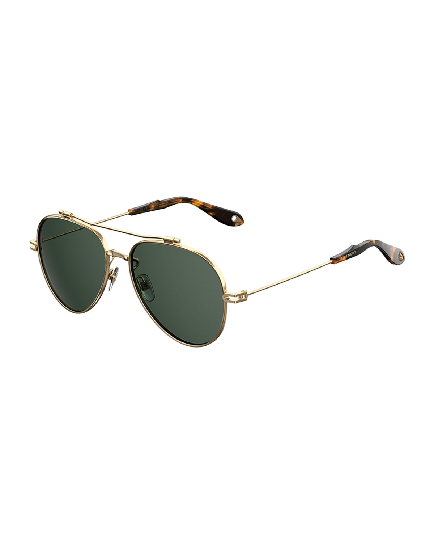 246fd2edf8f Givenchy Metal Aviator Sunglasses