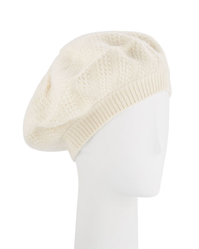Honeycomb Textured Knit Beret