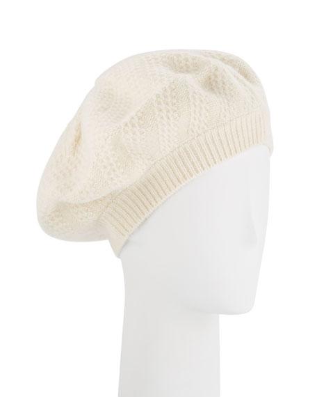 Honeycomb Textured Knit Beret