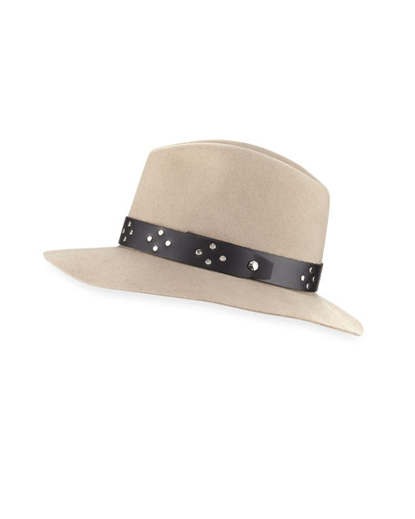 Floppy Brim Wool Fedora w/ Leather Band