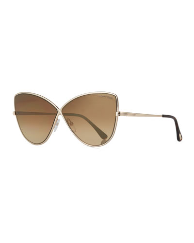 Elise Gradient Cross-Bridge Sunglasses