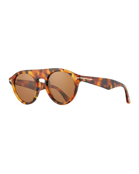 TOM FORD Flat-Top Round Sunglasses