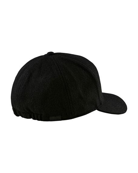 Woolen Baseball Cap with Crest